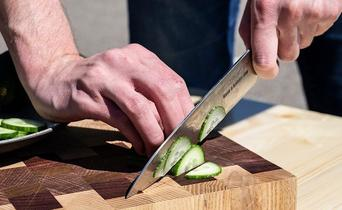 Five tips to safely and efficiently use a chef's knife