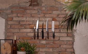 How do I mount a magnetic knife strip?