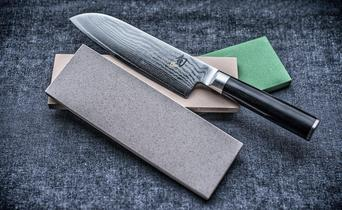 How do I sharpen a damast kitchen knife?