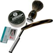 Böker Barberette Horn Set 140905SET set de rasage avec shavette
