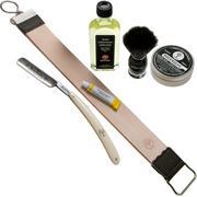 Böker King Cutter White Shaving Starter Set 141624SET