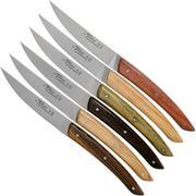 Claude Dozorme Le Thiers Coffret de couteaux à steak, 6 pièces, Essences variées
