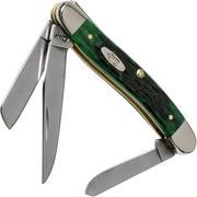 Case Medium Stockman Pocket Worn Bermuda Green Bone, Peach Seed Jig, 09721, 6318 rostfrei, Taschenmesser