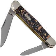 Case Half Whittler Black Sycamore Wood, 25571, 7208 SS pocket knife