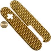 Daily Customs 91.3 Golfball BS Pattern, Brass P10012431 Victorinox Griffschalen