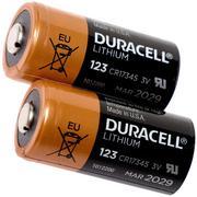 Duracell - Pile CR123A. Lot de 2 pièces.