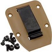 ESEE clip de ceinture plat pour l'étui des modèles 3 & 4, Coyote Brown