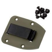 ESEE clip de ceinture plat pour l'étui des modèles 3 & 4, OD-Green