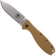 ESEE Knives Zancudo D2 Coyote Brown-Stonewashed, BRKR2CB Taschenmesser
