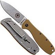 ESEE Knives Zancudo AUS8 Coyote Brown-Stonewashed, BRKR1CB Taschenmesser