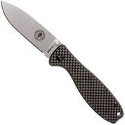 ESEE Knives Zancudo D2 Carbonfiber-Stonewashed, BRKR2CF Taschenmesser