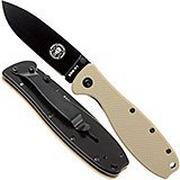 ESEE Knives Zancudo D2 Desert Tan-Black, BRKR2DTB Taschenmesser