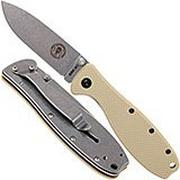 ESEE Knives Zancudo AUS8 Desert Tan-Stonewashed, BRKR1DT Taschenmesser