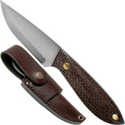 Brisa Bobtail 80 bison micarta handle, 12C27 Scandi, Multi-carry sheath 9954