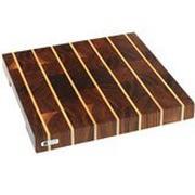 Eden handgemaakte snijplank, Amerikaans notenhout met streep, 37x36 cm