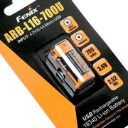 Fenix ARB-L16-700U 16340 accu rechargeable USB, 700 mAh Li-Ion