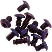 Flytanium Benchmade Bugout Screws Titanium, purple