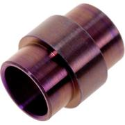 Flytanium Spyderco Paramilitary 2 Lanyard Tube Titanium, purple