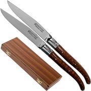 Fontenille Pataud Laguiole 2dlg steak knives set amourette snake wood, LTC2A