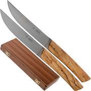 Fontenille Pataud Le Thiers set de 2 couteaux à steak olivier, TR2TOL