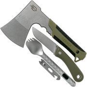 Gerber Pack Hatchet hachette, Spine couteau fixe & Devour spork Box EFS