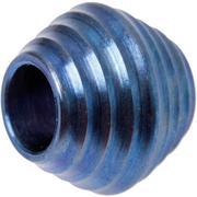 Rick Hinderer Mount Hood Lanyard Bead, Summit Series, Blue Stonewashed Titanium
