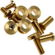 """Rick Hinderer Complete Brass Hardware Set, XM18 3.5"""""""