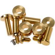 """Rick Hinderer Complete Brass Hardware Set, XM24 4"""""""