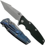 """Rick Hinderer Eklipse 3.5"""" Harpoon Tanto, CPM 20CV, Battle Blue, Black G10 couteau de poche"""