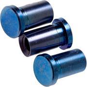 "Rick Hinderer Handle Nuts Blue Titanium, Set van 3, XM18 3,5"" Skinny"