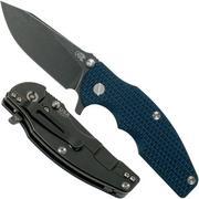 Rick Hinderer Jurassic Slicer Battle Black, Blue/Black G10 CPM 20CV couteau de poche