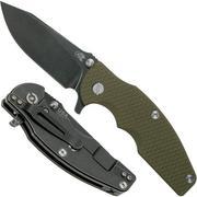 Rick Hinderer Jurassic Slicer Battle Black, OD Green G10 CPM 20CV couteau de poche