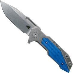 Rick Hinderer Fulltrack Spearpoint 20CV Blue G10 couteau de poche