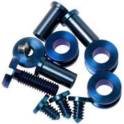 "Rick Hinderer Complete Stonewash Blue Titanium Hardware Set, XM18 3,5"""