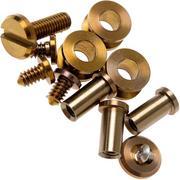 "Rick Hinderer Complete Titanium Bronze Hardware Set, XM18 3.5"""