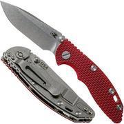 """Rick Hinderer XM18 3.0"""" Spearpoint Non-Flipper CPM 20CV Red G10 pocket knife"""