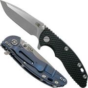 """Rick Hinderer XM-18 3"""" Spanto Gen 4 CPM 20CV Black G10, Battle Blue, navaja"""
