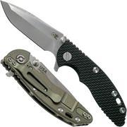 "Rick Hinderer XM-18 3"" Spanto Gen 4 CPM 20CV Black G10, Battle Green, zakmes"