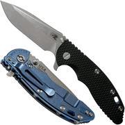 """Rick Hinderer XM-18 3.5 Spanto 20CV, Blue Stonewash, Black G10 navaja"""""""