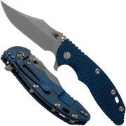 Rick Hinderer XM-18 3.5 Bowie 20CV Battle Blue, Blue-Black G10 pocket knife