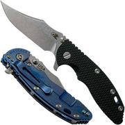 Rick Hinderer XM-18 3.5 Bowie 20CV Stonewash Blue, Black G10 couteau de poche