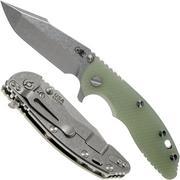 "Rick Hinderer XM-18 3.5"" Harpoon Spanto S35VN, Translucent Green G10 couteau de poche"
