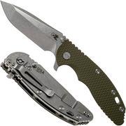 "Rick Hinderer XM-18 3.5"" Spanto 20CV, od green G10 zakmes"