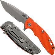 """Rick Hinderer XM-18 3.5"""" Spanto 20CV, Working Finish, orange G10 zakmes"""