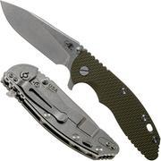 "Rick Hinderer XM18 3,5"" 20CV Slicer, OD Green G10 zakmes"