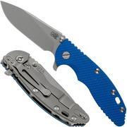 """Rick Hinderer XM18 3,5"""" Slicer Working Finish, Blue G10"""