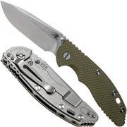 "Rick Hinderer XM18 3,5"" Non-Flipper Spearpoint, OD Green G10, 20CV, zakmes"