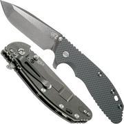 "Rick Hinderer XM-24 4"" Gen6 Spanto Black 20CV, Dark Grey G10, couteau de poche"