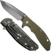 "Rick Hinderer XM-24 4"" Gen6 Spanto Black 20CV, OD Green G10 zakmes"