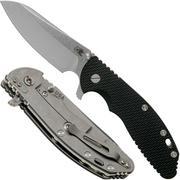 "Rick Hinderer XM-24 4"" Gen6 Sheepfoot 20CV, Black G10 zakmes"
